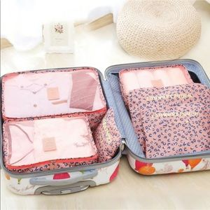 Pink Leopard Packing Cubes